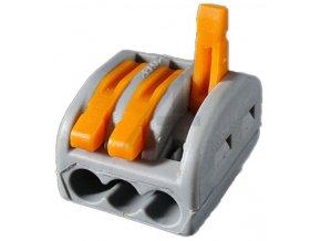Rýchlospojka PCT-213 so svorkou pre káble 0,75-2,5mm2