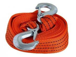 Ťažné lano-popruh 3m s hákmi