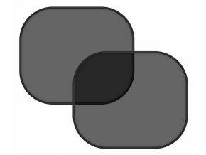 COMPASS Clona slnečná na bočné okno čierna 2 prísavky