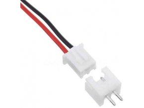 Konektor JST-XH 2pin + kábel 15cm + zdierka JST-XH 2pin