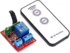 Diaľkové ovládanie, vysielač + prijímač RF 433MHz, napájanie prijímača 12V