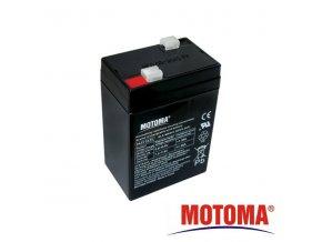 Baterie olověná   6V /  4,5Ah  MOTOMA bezúdržbový akumulátor