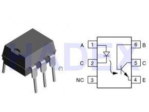 CNY-17 / III optočlen 5,3kV CTR 100-200% DIP6