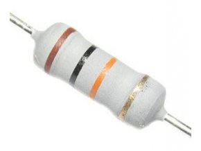 39R 0411, rezistor 2W, 5%, 300 ppm, 500V