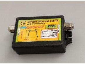 Anténny zosilňovač 16dB DVB-T2 s potlačením 02 + ufóna + 5G LTE