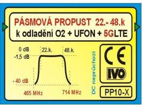 Pásmová priepust UHF (22-48k), PP10-X k odladenie O2 + ufóna + LTE