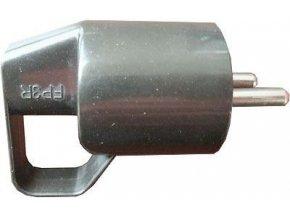 Vidlica 230V / 16A s uškom, čierna