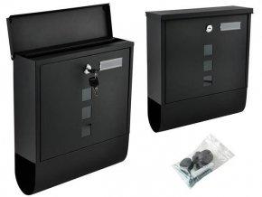 Poštová schránka čierna