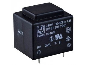 Trafo DPS 2,6 V 1x9V (0,29) 32,5x27,5x26,8 HAHN
