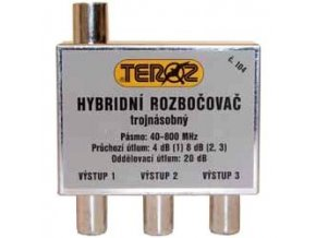Rozbočovač 3x hybridný širokopásmový TEROZ 104