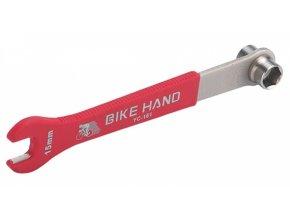 klíč konusový pedálový BIKE HAND 15+14