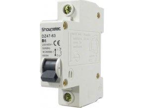 Istič Showpelec DZ47-63 B6, 230V / 6A / B 1fázový na DIN lištu
