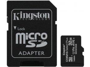Pamäťová karta KINGSTON micro SDHC 32GB Class 10 + adaptér