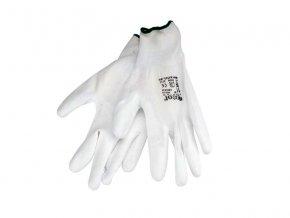"""Rukavice 8 """"biele z polyesteru polomáčané v PU, EXTOL PREMIUM"""