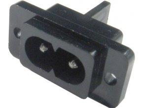 Zdierka AC 250V 2pólová na panel