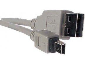 Kábel USB 2.0 konektor USB A / MINI-USB B (5 pinov) 1,5m