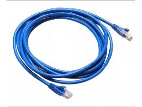 UTP kabel Patch RJ45 5m modrý Cat5e