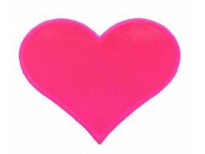 samolepka reflexní růžové srdíčko