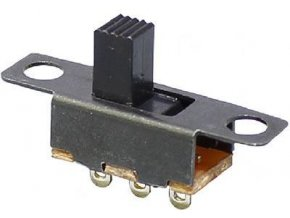 Prepínač posuvný SS-12F15, ON-ON 1pol.50V / 0,5A