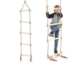 Drevený povrazový rebrík, 190cm