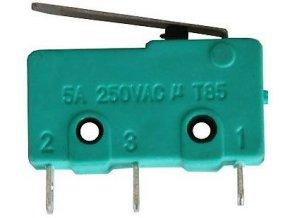 Mikrospínač MSW-12, ON (ON) 1pol.250V / 5A-páčka 17mm