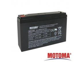 Baterie olověná   6V /  7Ah  MOTOMA bezúdržbový akumulátor