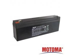 Baterie olověná  12V /  2,3Ah  MOTOMA bezúdržbový akumulátor