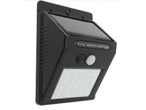 Solárne nástenné svietidlo s čidlom PIR, 20 x LED