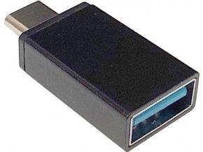 Redukce USB A - USB-C - černá