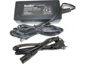 Napájač, sieťový adaptér NetBit 12V / 2,5A spínaný, konc. 5,5x2,1mm