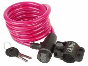 zámek  M-Wave 10x1800mm růžový