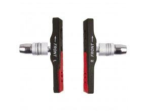 špalíky M-Wave MTB šroub 72mm černo-červené