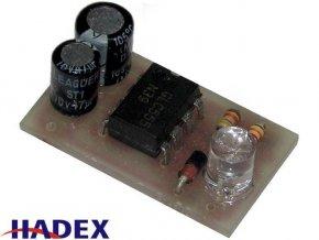 Úsporný blikač s NE555 bílá LED elektronická stavebnica