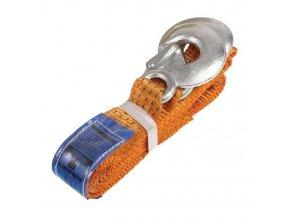 Ťažné lano-popruh 4m 5000kg, oranžové