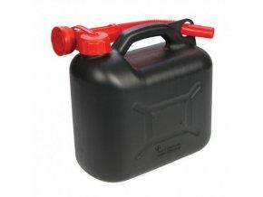 Plastový kanister na benzín, PHM, 10 L, čierny