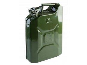 Plechový kanister na benzín, PHM, 10 L, GMP, zelený