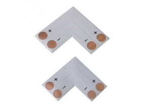 Rohová spojka PCB pre LED pásky 8mm - spájkovacie