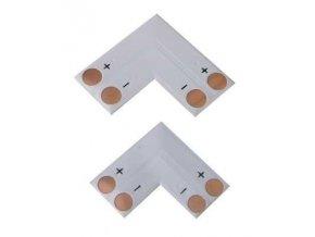 Rohová spojka PCB pre LED pásky 10mm - spájkovacie