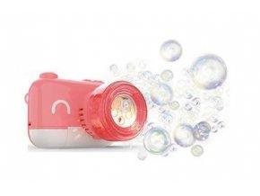Detský čarovný fotoaparát na mydlovej bubliny, ružový