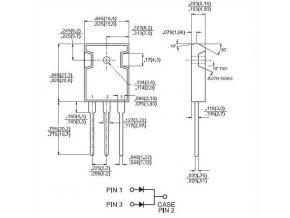 MBR60100PT dioda schottky dvojitá 100V/2x30A/ TO247AD