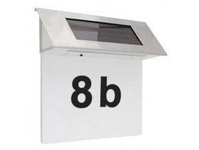 Solárne svietidlo nástenné pre osvetlenie domového čísla