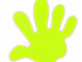 samolepka reflexní Ruka žlutá