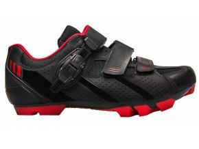 boty FLR F-65 černo/červené