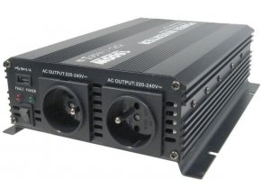 Menič napätia 12V / 230V + USB 1600W, Soluowill NM1,6K-12 modifikovaná sin.