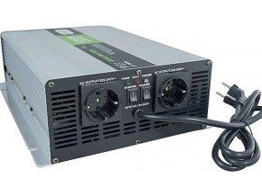Menič napätia + UPS + nabíjač 12V / 230V / 2000W, Soluowill NPS2000, čistá sin.