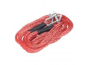 Ťažné pružné lano 4m 3000kg, červené s okami