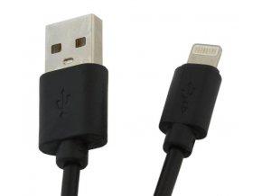 Kábel USB 2.0 - Lightning, dĺžka 1m, čierny