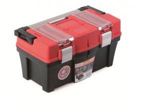 Plastový kufor na náradie APTOP PLUS červený 458x257x245
