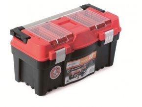 Plastový kufor na náradie APTOP PLUS červený 550x267x277
