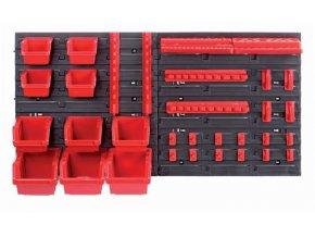 Závesný panel s 10 boxy a 22 držiaky na náradie ORDERLINE 800x165x400